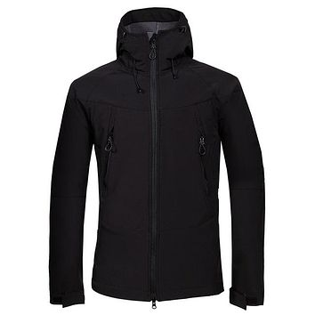 Men's Winter Softshell Fleece Jackets Outdoor Sportswear Coat Hiking Trekking Camping Skiing Male Windbreaker VA187
