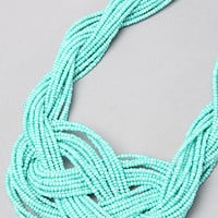 *Accessories Boutique The Turquoise Tie Knot Necklace : Karmaloop.com - Global Concrete Culture