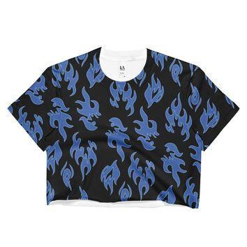 Blue Flame Crop Top