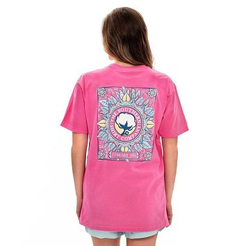 Cabana Tapestry Tee in Carmine Rose by The Southern Shirt Co.