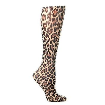 Lightweight Patterned Compression Socks in Leopard