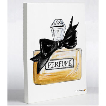 One Bella Casa Bow Perfume by Timree Painting Print on Wrapped Canvas