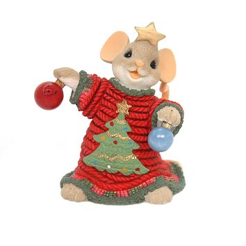 Charming Tails THAT'S ONE TREE-IFIC SWEATER Christmas Dean Griff Mouse 131634