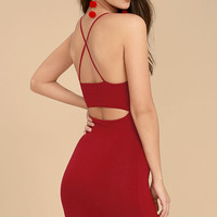 Looking Fine Red Bodycon Dress