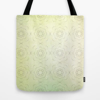 Circles within Circles, Flowers upon Flowers - Textures green background Tote Bag by RunnyCustard Illustration