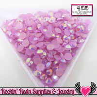 4mm 200 pcs AB Purple Orchid Jelly RHINESTONES