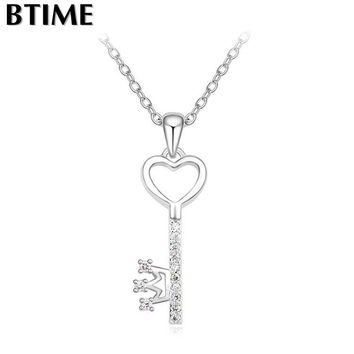 Necklaces with Swarovski Key Chain for Lover