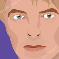 David Bowie Art Print 8x10 or 8.5x11