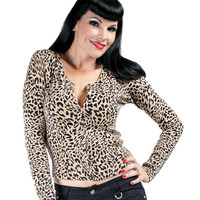 Voodoo Vixen Natural Leopard Cardigan Sweater