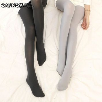 New Women Tights 2017 Fashion Sweet Pantyhose Velvet Candy Color Thick Tights Seamless Winter Nylon Stockings Slim Soft Collant
