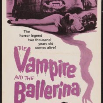 Vampire And The Ballerina The 14x36 Insert Movie Poster