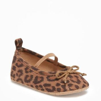 Leopard-Print Ballet Flats for Baby | Old Navy
