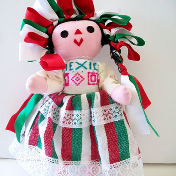 Vintage Handmade Ethnic Mexican Doll Folk Art