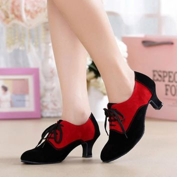 Retro Ballroom Heeled Dance Shoes