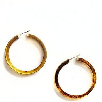 Lauren Ralph Lauren Large Tortoise Hoop Earrings