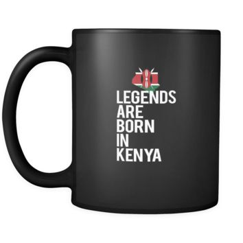 Kenya Legends are born in Kenya 11oz Black Mug