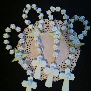 Rosary Favors , Twins Baby Boys Favor, Mini Rosary Favor, Boys Baptism Favor, Blue Rosaries Favor, First Communion Favor, Blue Baptism Favor