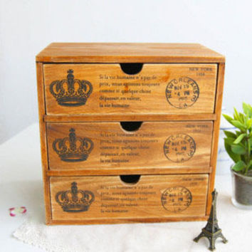 Wooden Weathered Storage Box Home Decor [6282378438]
