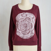 Boho Short Length Long Sleeve Calm on Over Sweatshirt