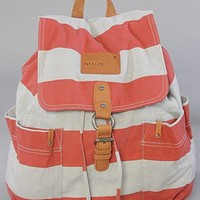The Get Go Backpack in Red Stripe : Nixon : Karmaloop.com - Global Concrete Culture