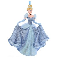 disney parks princess cinderella glitter resin christmas ornament new with tag