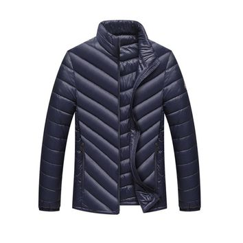 2017 New Fashion The North Of Boys Men Warm Stand Slim Winter Zip Good Quality Coat Long Sleeve Outwear Down Jacket Face