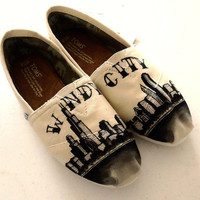 Chicago Skyline TOMS by LamaLand on Etsy