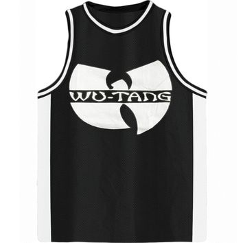 Wu Tang Clan Men's  #98 Logo Basketball Jersey Basketball  Jersey Black/White