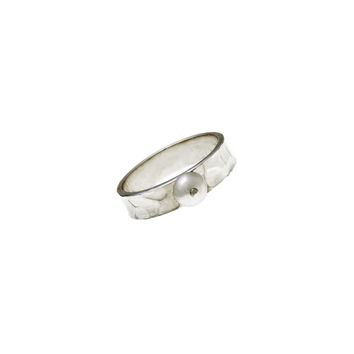 Love Letters Trust Sterling Silver Pearl Stack Ring