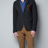 KNITTED BLAZER WITH POCKET - Blazers - Man - ZARA United States