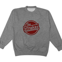 the strokes sweater Gray Sweatshirt Crewneck Men or Women for Unisex Size with variant colour
