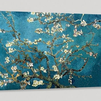 Large Wall Art Van Gogh Blossoming Almond Tree Canvas Print, Van Gogh Reproduction Canvas Printing