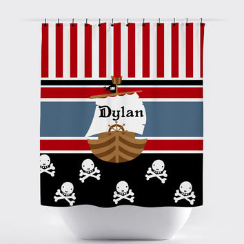 Customized Pirate Shower Curtain