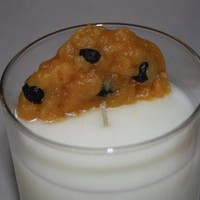 Oatmeal Raisin Cookie and Milk Candle Set, Home Decor Candles, Fake Food