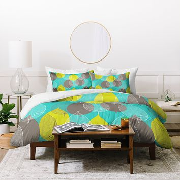 Aimee St Hill Big Leaves Blue Duvet Cover