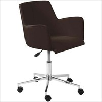 Eurostyle Sunny Swivel Office Chair in Brown Leatherette & Chrome