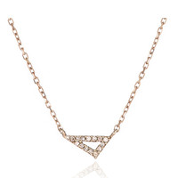 Super Tiny Pave Diamond Right Angle Necklace