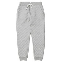 Quilted Grey Luxury Sweatpants