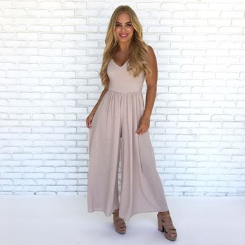 Day Trip Jumpsuit in Sand