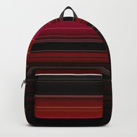 Rich Red Wine Striped Pattern Backpack by Sheila Wenzel