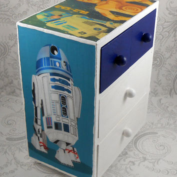 Custom R2D2 C3PO Star Wars Stash Jewelry Box