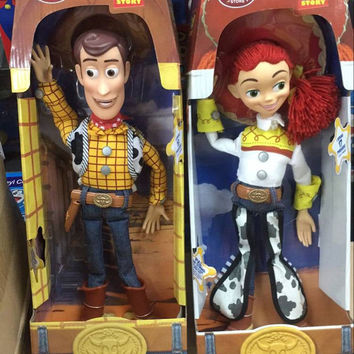 Toy Story Action Figures Talking Woody Jessie PVC Collectible Model Toy Story 3