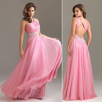 Beaded One-shoulder Evening/Formal/Ball gown/Party/Prom dress/SZ 6-8-10-12-14