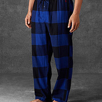 Polo Ralph Lauren Buffalo Check Flannel Pajama Pants - Royal/Polo Blac