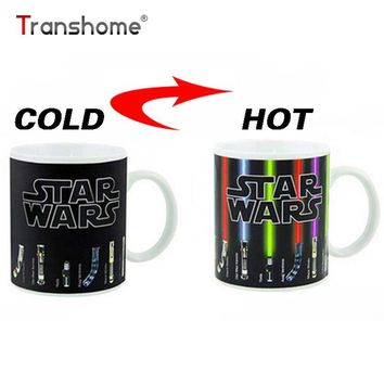 Star Wars Force Episode 1 2 3 4 5 Transhome Personalized Color Change Porcelain Mug  Lightsaber 11oz Ceramic Coffee Mug Dragon Ball Series Mug  Bone AT_72_6