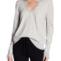 Pam & Gela | Crisscross Fleece Sweatshirt | Nordstrom Rack