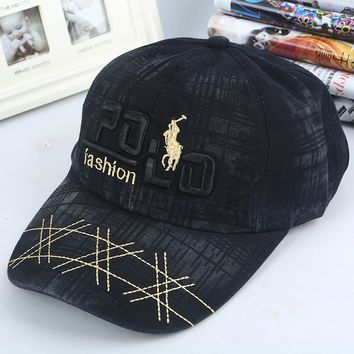 Rinsed POLO Denim Hats Stylish Luxury Baseball Cap [9468785671]