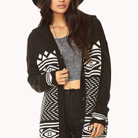 Folk Girl Hooded Cardigan