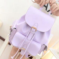 Lavender Pull Tie Backpack