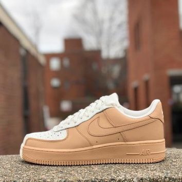 KUYOU Nike Air Force 1 '07 Premium Sail Vanchetta Tan 905345-105